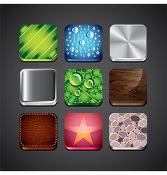 textures apps set vector image vector image