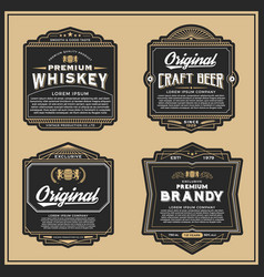 Vintage frame design for labels vector