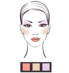 Women's makeup vector