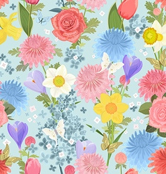 Seamless texture with delicate floral design vector