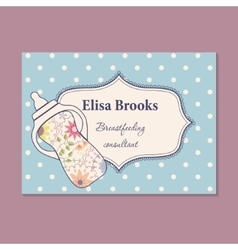 Vintage business card for breastfeeding consultant vector