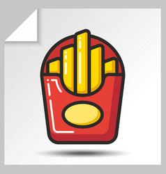 fast food icons 2 vector image