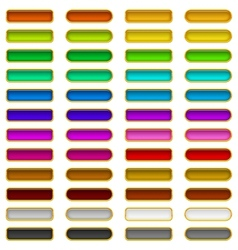 Glass buttons of various colors set vector