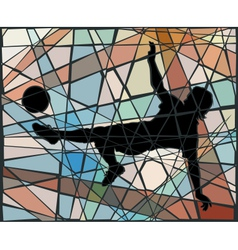Kick mosaic vector