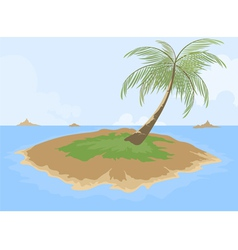 Island cartoon scene vector