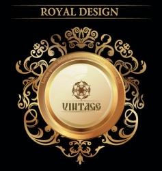 Vintage royal design element vector