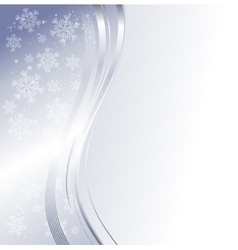 Blue winter abstract background vector image