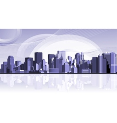 urban city background vector image