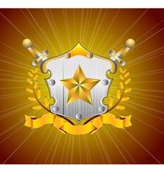 heraldic element vector image