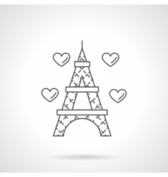 Romantic trip flat line icon vector