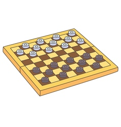 Draughts vector