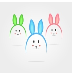 Eggs in the form of rabbits vector