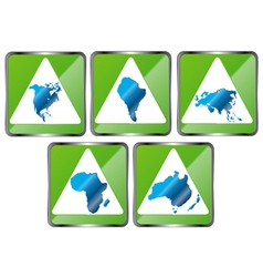 Signs of five continents vector