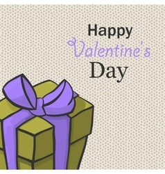 Present for valentine day hand drawn isome vector
