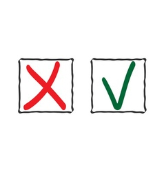 Check mark icons 3 vector image