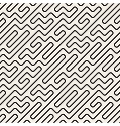 Seamless black and white geometric rounded vector