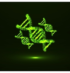 Abstract dna neon molecular structure vector