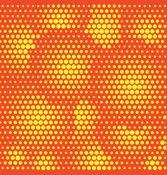 abstract dotted halftone background yellow vector image