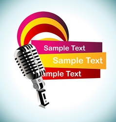 abstract mic background vector image