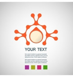 abstract orange man on a white background vector image vector image