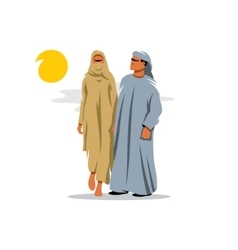 Arab family cartoon vector
