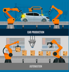 Automation banners set vector