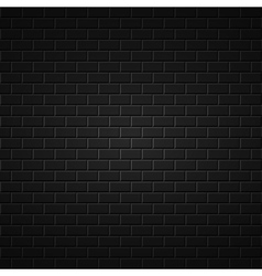 Black abstract background Brick wall texture vector image