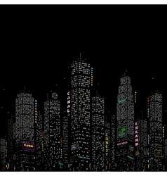 City Skyscraper Pattern vector image vector image