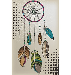 Color tattoos dream catcher vector