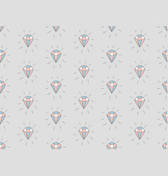 colorful seamless pattern with diamonds vector image