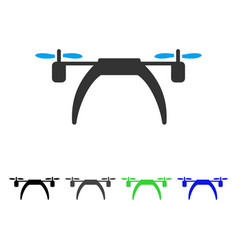 copter flat icon vector image vector image