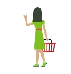 Customer woman character vector