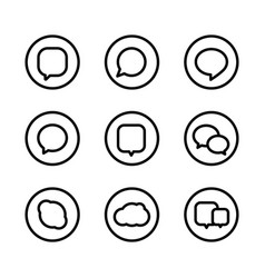 different web icons social media pictograms vector image vector image