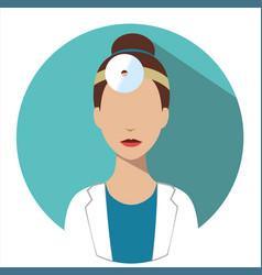doctor web icon otorhinolaryngologist avatar vector image vector image