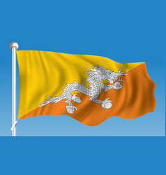 Flag of bhutan vector