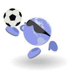 football world vector image