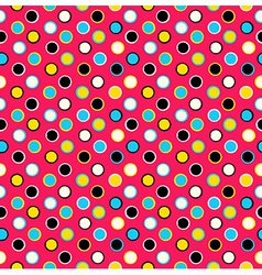 Geometric seamless pattern background grungy polka vector image vector image