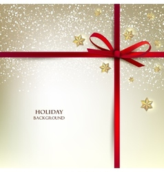 Greeting card with red bows and copy space vector image