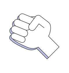 Hand clenched symbol vector
