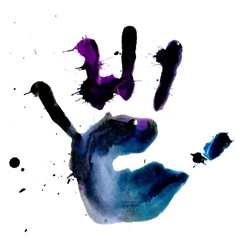 Ink hand print vector image vector image