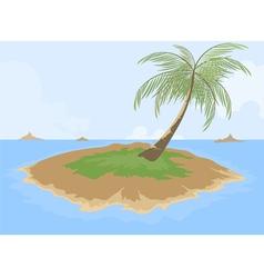 Island cartoon scene vector