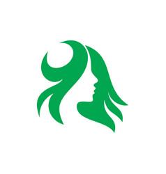 logo woman silhouette head face logo vector image