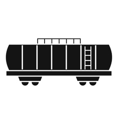 Oil railway tank icon simple style vector