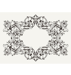 Old antique high ornate frame vector