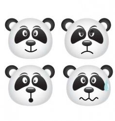 pandas face vector image vector image