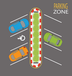 parking zone4 vector image vector image