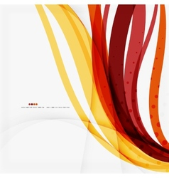 Red and orange color lines composition vector image vector image