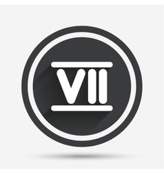 Roman numeral seven icon roman number seven sign vector