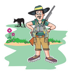 safari hunter vector image vector image
