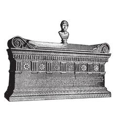 Sarcophagus of lucius cornelius scipio barbatus vector